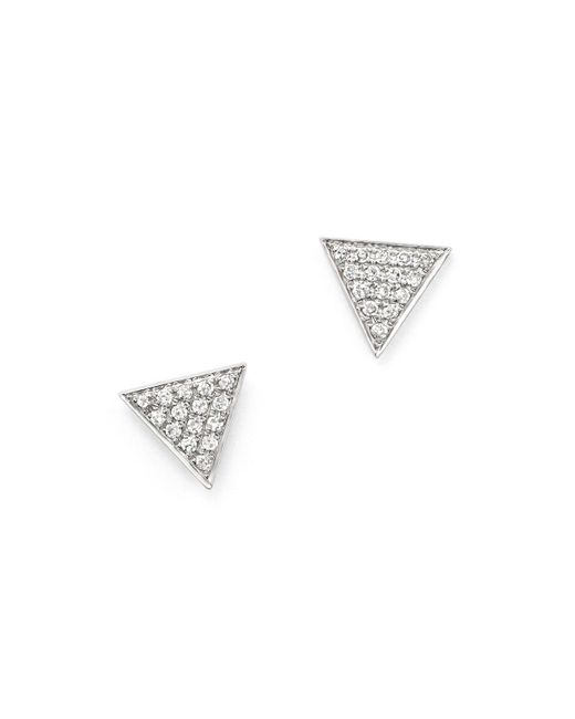 Dana Rebecca | Metallic 14k White Gold Emily Sarah Earrings With Diamonds | Lyst
