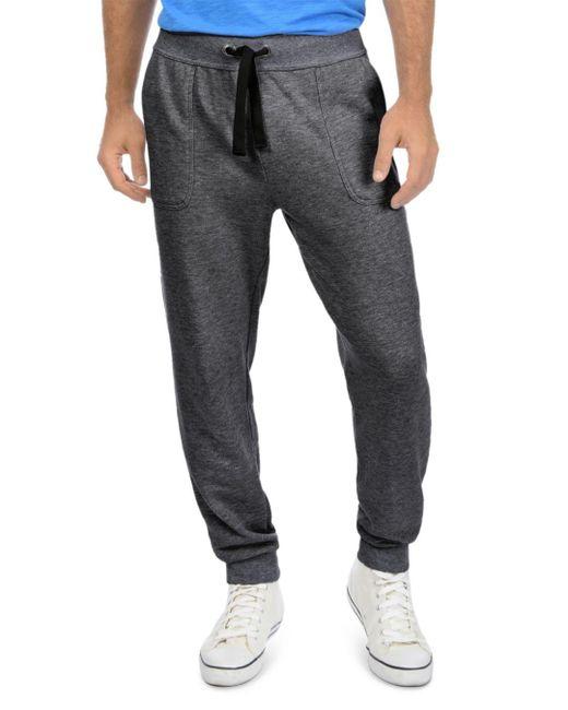 2xist Black Terry Sweatpants for men