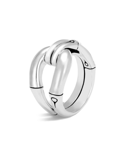 John Hardy - Metallic Sterling Silver Bamboo Loop Ring - Lyst