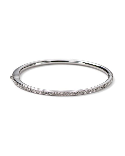 Nadri - Metallic Single Row Bangle - Lyst