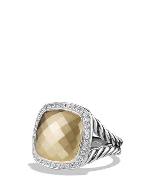 David Yurman - Metallic Albion® Ring With 18k Gold Dome And Diamonds, 14mm - Lyst