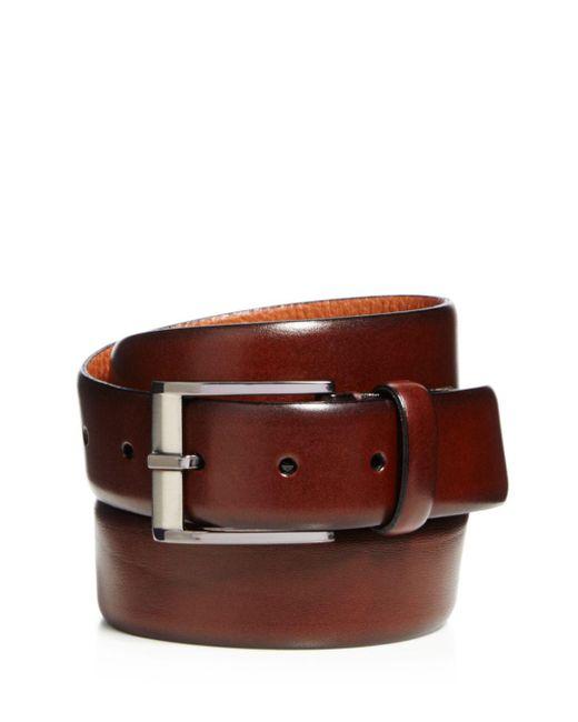 Trafalgar - Brown Matteo French Calf Leather Belt for Men - Lyst