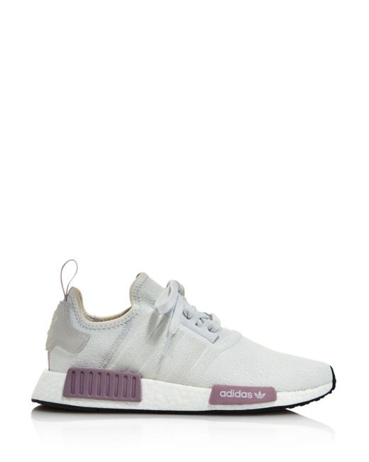 05209c2a1f64 Lyst - adidas Women s Nmd R1 Knit Lace Up Sneakers in Gray