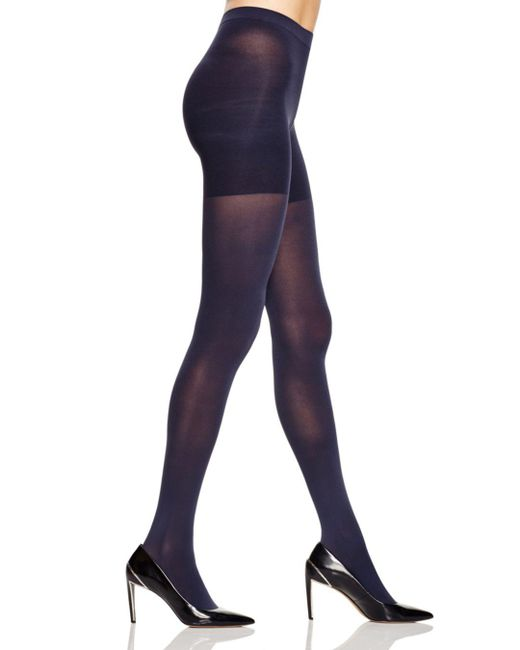Spanx - Blue Luxe Leg Tights - Lyst