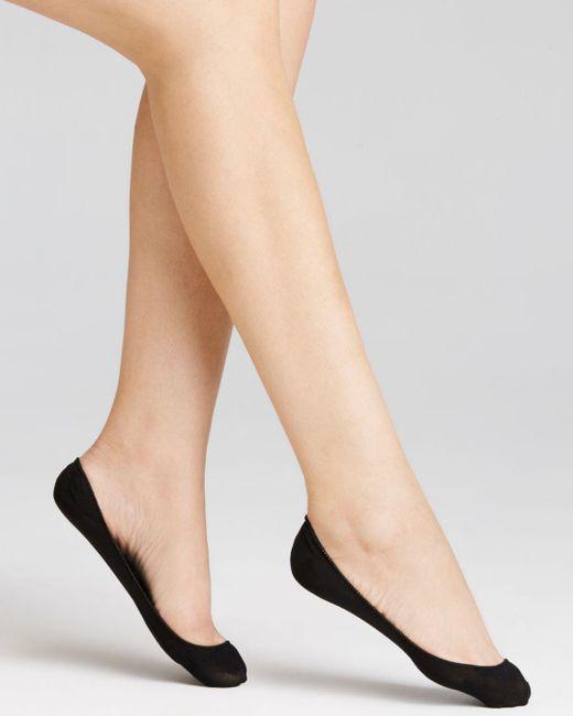 Hue Black Microfiber Cushioned Liner Socks