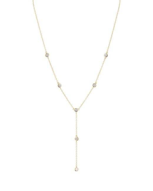 Aqua Metallic Lariat Necklace In Platinum - Plated Sterling Silver Or 18k Gold - Plated Sterling Silver
