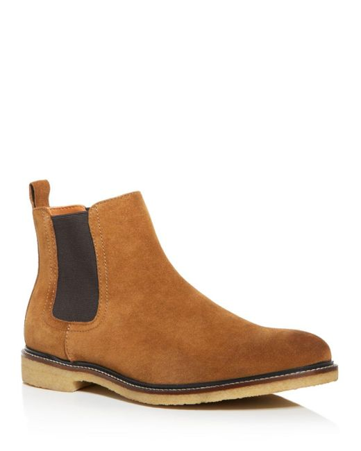 Bloomingdale's Brown Men's Leather Chelsea Boots for men