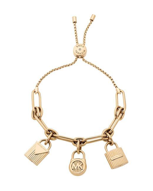 Michael Kors | Metallic Slider Charm Bracelet | Lyst