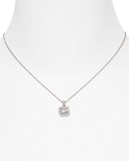 Nadri Metallic Framed Cushion Pendant Necklace
