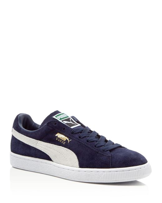 460f1984376 Lyst - PUMA Men s Suede Classic + Sneakers in Blue for Men - Save 52%