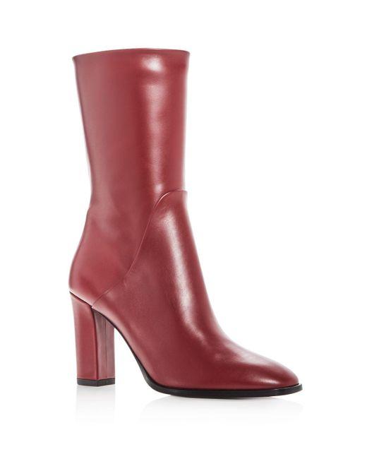 Via Spiga | Red Women's Adrinna Leather High Heel Boots | Lyst