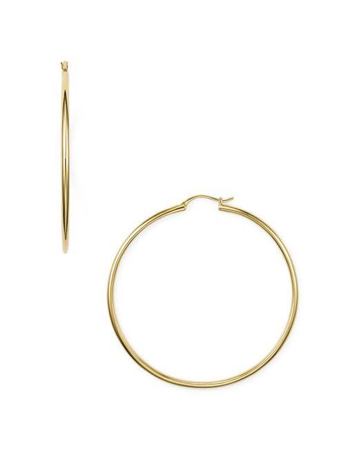 Nadri - Metallic Hoop Earrings - Lyst