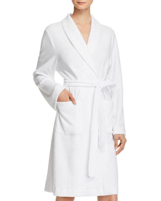 Hanro White Plush Wrap Robe