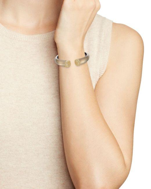 Alexis Bittar Gray Encrusted Pavé Hinge Bracelet