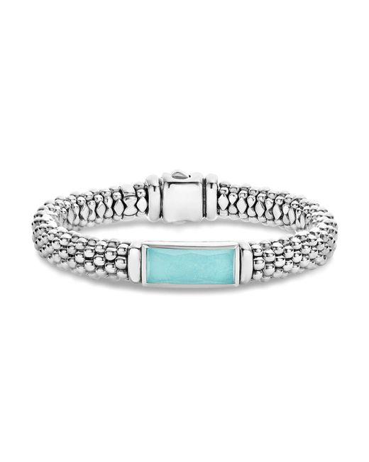 Lagos | Metallic Sterling Silver Maya Escape Turquoise Doublet Bracelet | Lyst