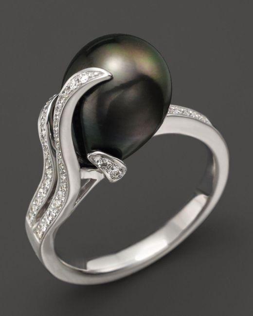 Tara Pearls Black 14k White Gold