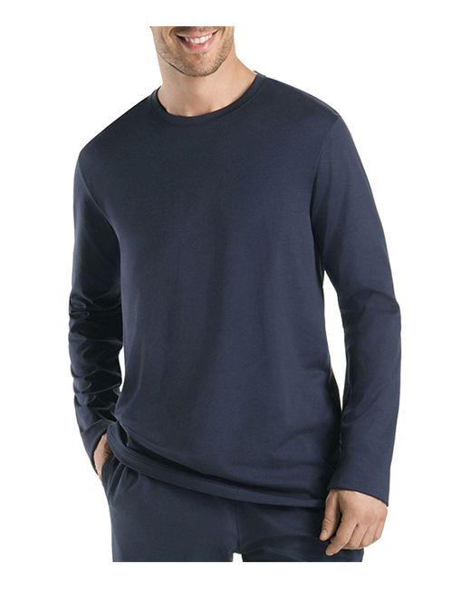 Hanro | Black Night And Day Long Sleeve Shirt for Men | Lyst