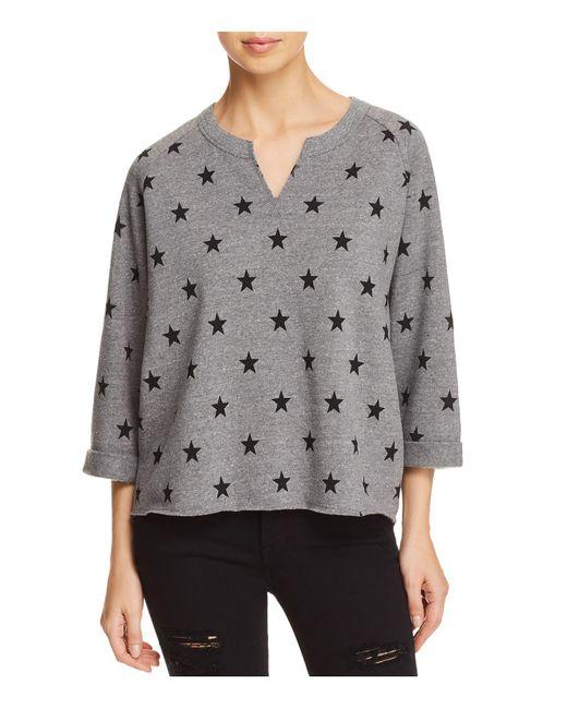Alternative Apparel - Gray The Champ Remix Star Print Sweatshirt - Lyst
