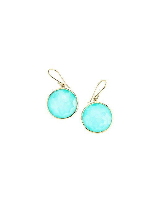 Ippolita Blue Rock Candy Lollipop Drop Earrings
