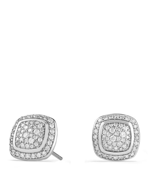 David Yurman - White Albion Earrings With Diamonds - Lyst
