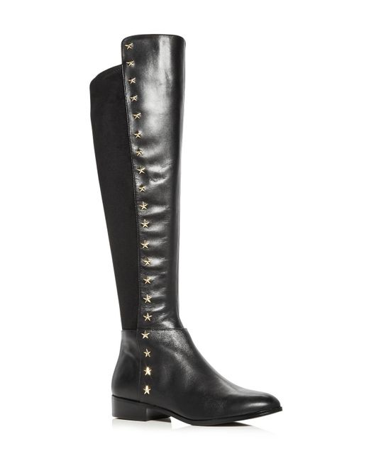 MICHAEL Michael Kors | Black Women's Bromley Leather & Suede Embellished Tall Boots | Lyst