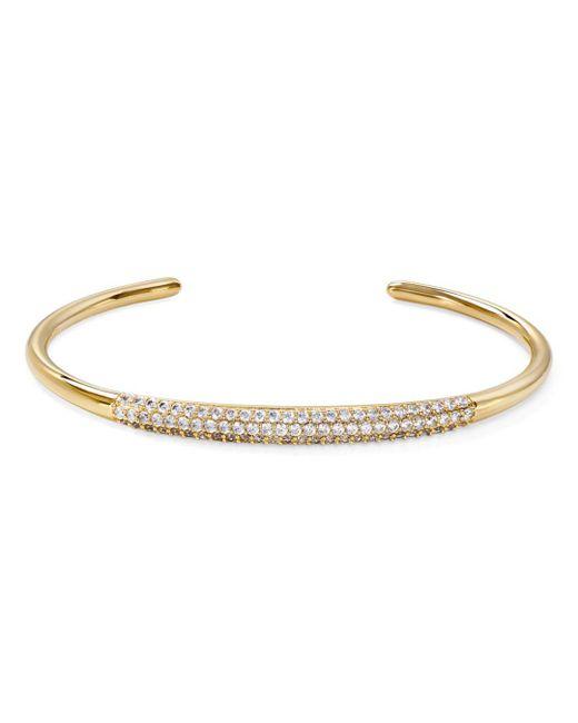 Nadri - Metallic Aura Pavé Open Cuff Bracelet - Lyst