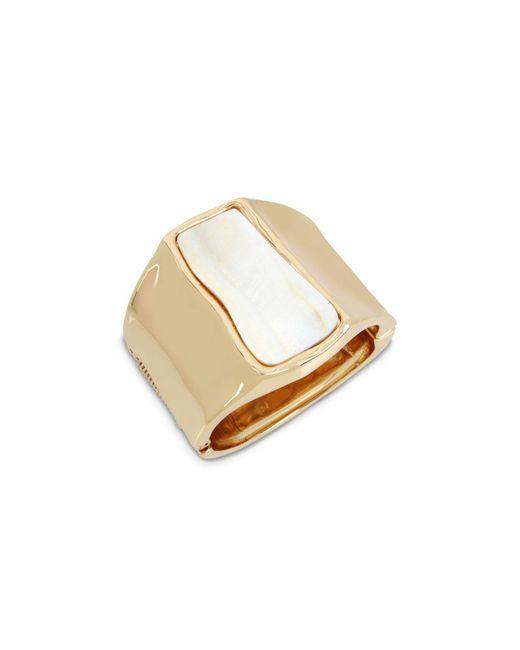 Robert Lee Morris - Metallic Mother-of-pearl-detail Cuff Bracelet - Lyst
