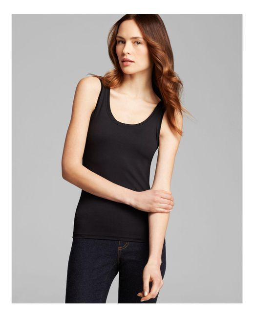 Karen Kane | Black Super Soft Tank | Lyst