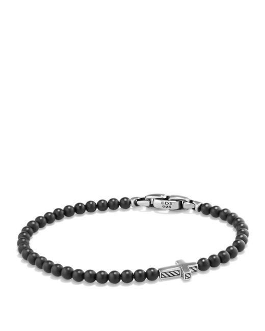 David Yurman - Metallic Spiritual Beads Cross Bracelet With Black Onyx In Sterling Silver - Lyst