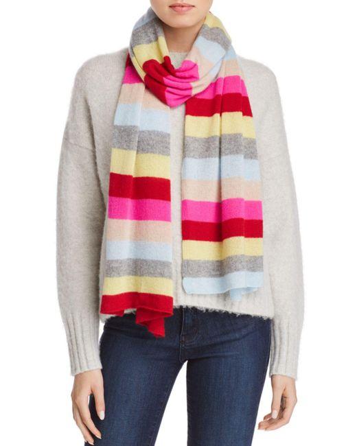 Aqua - Multicolor Cashmere Striped Cashmere Scarf - Lyst