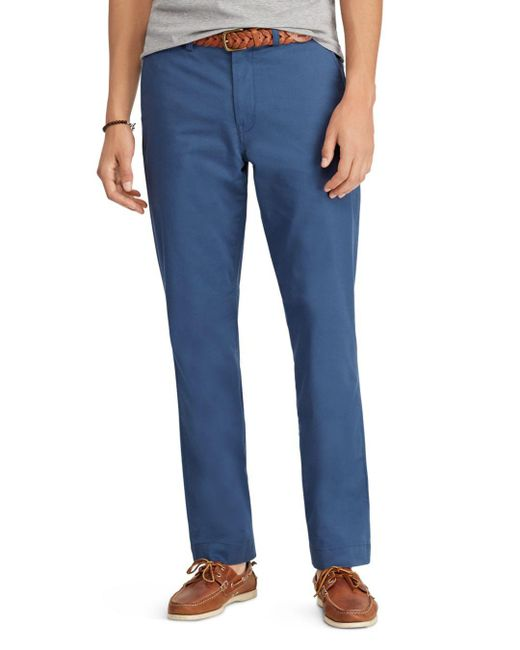 Polo Ralph Lauren - Blue Polo Stretch Classic Fit Chino Pants for Men - Lyst
