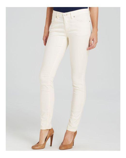 Eileen Fisher | White Slim Ankle Jeans In Ecru | Lyst