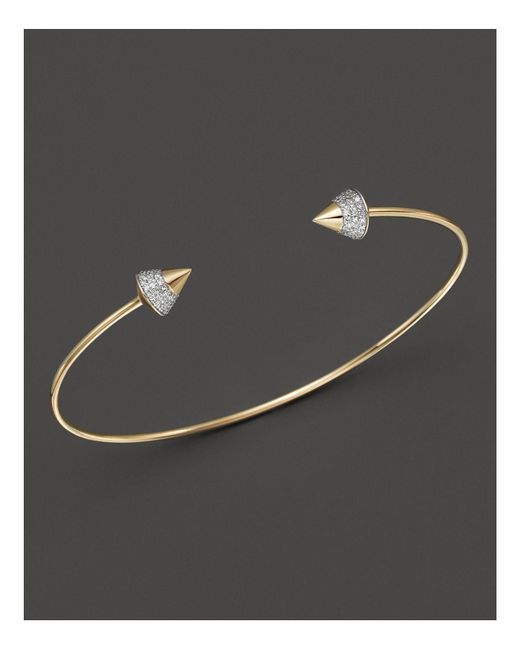 KC Designs | Metallic Diamond Studded Bracelet In 14k Yellow Gold | Lyst