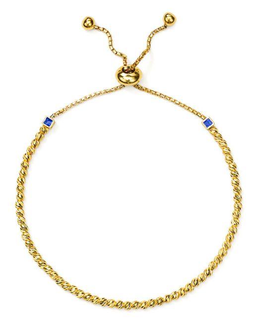 Officina Bernardi - Metallic Slash Bead Slider Bracelet - Lyst