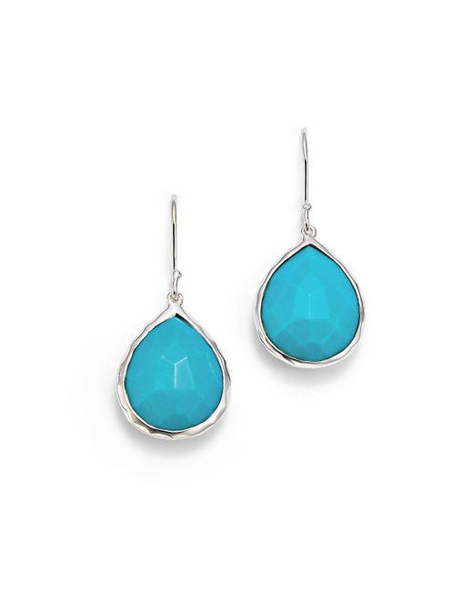 Ippolita - Blue Small Turquoise Teardrop Earrings - Lyst