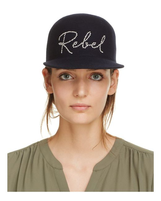 Eugenia Kim | Blue Wool Bo Rebel Crystal Cap | Lyst