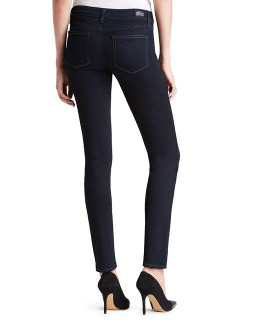 PAIGE Blue Denim Jeans - Transcend Skyline Skinny In Mona