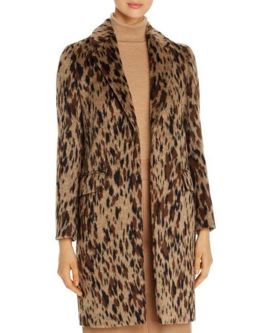 BOSS Brown Cetakata Animal - Print Coat