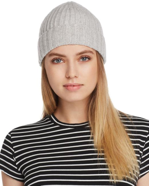 C By Bloomingdale's Multicolor Chunky Rib - Knit Cashmere Beanie