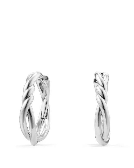 David Yurman - Metallic Continuance Hoop Earrings - Lyst