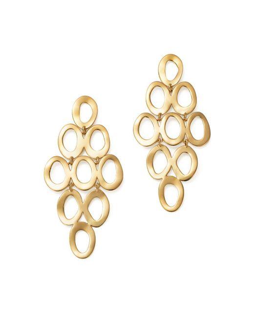Ippolita Metallic 18k Yellow Gold Open Cascade Earrings