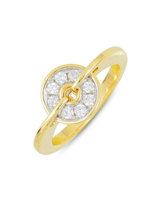 Frederic Sage - Metallic 18k White & Yellow Gold Diamond Small Spinning Disc Ring - Lyst