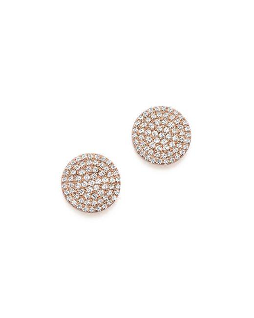 Bloomingdale's - Multicolor Diamond Disk Stud Earrings In 14k Rose Gold, .40 Ct. T.w. - Lyst