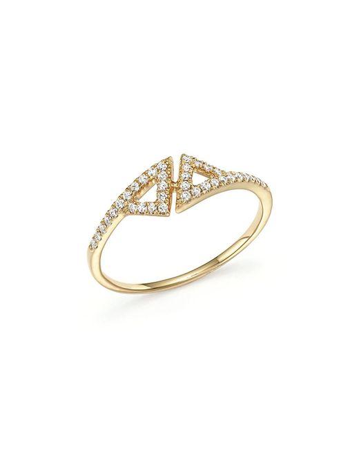 Dana Rebecca | Metallic 14k Yellow Gold Aria Selene Ring With Diamonds | Lyst