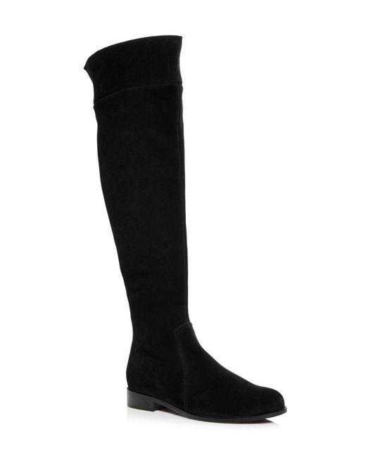 La Canadienne - Black Women's Secret Waterproof Suede Low Heel Boots - Lyst