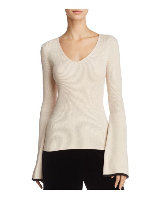 French Connection   Natural Virgie Bell-sleeve Sweater   Lyst