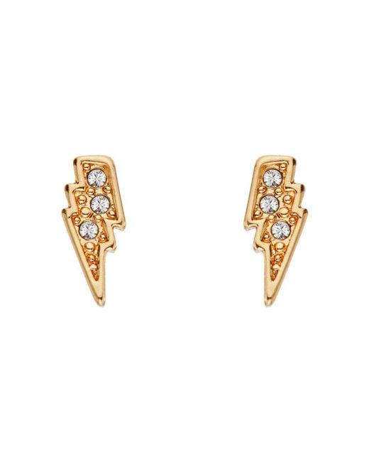 Karl Lagerfeld Metallic Mini Rocky Lightning Bolt Earrings