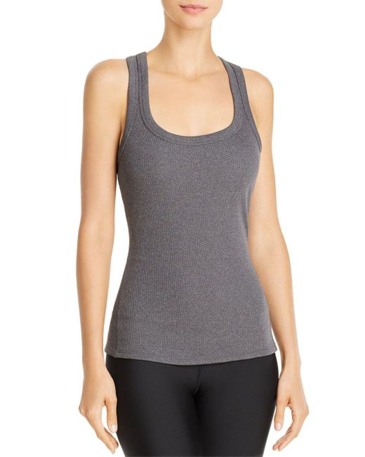 Alo Yoga Gray Support Rib - Knit Tank