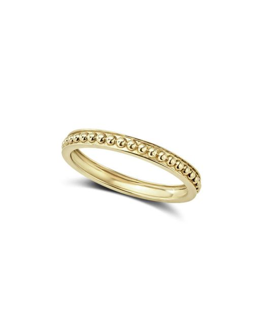 Lagos   Metallic Caviar Gold Collection 18k Gold Beaded Stacking Ring   Lyst