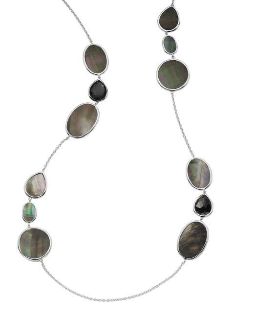 Ippolita Metallic Sterling Silver Ondine Hematite